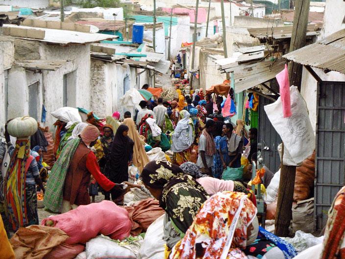 Markt Harar Äthiopien grenzenlosunterwegs
