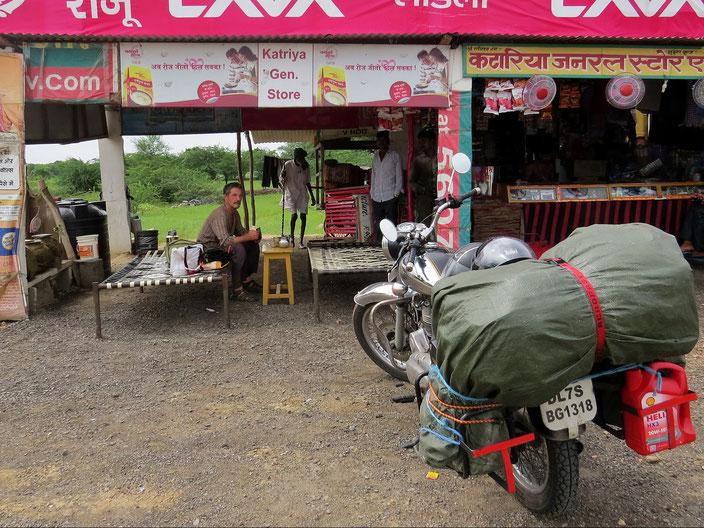 Raststätte Indien Enfield grenzenlosunterwegs