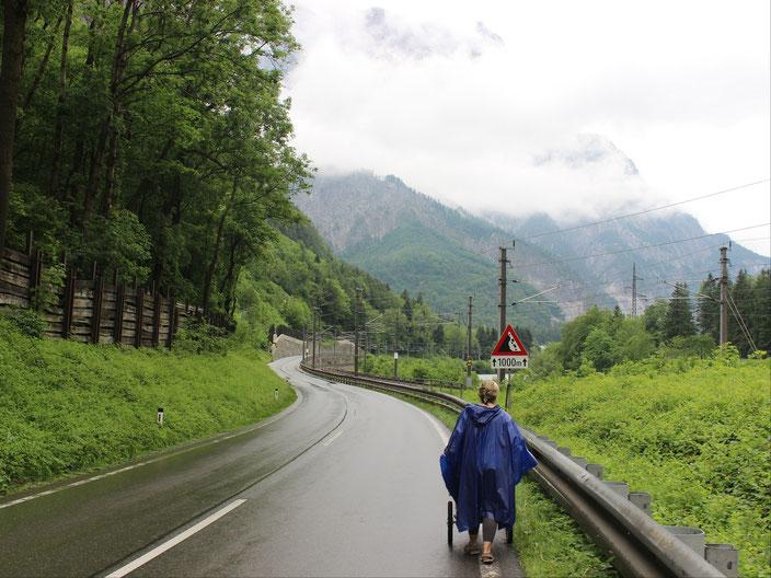 grenzenlosunterwegs Österreich Regen