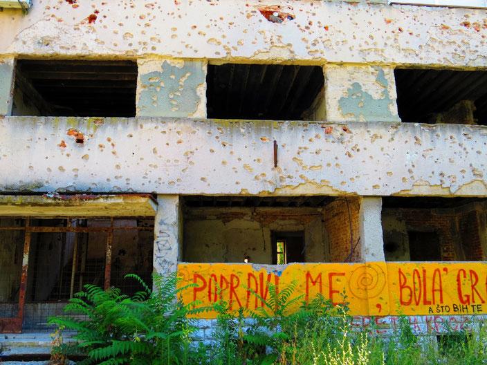 Kriegsspuren in Mostar
