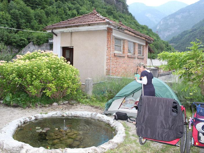 grenzenlosunterwegs Italien Zelt