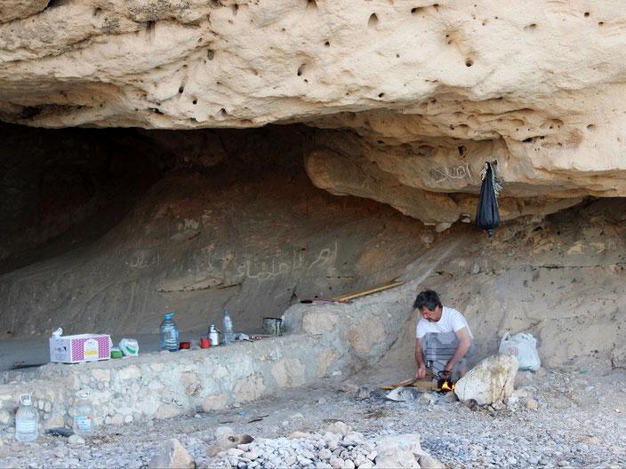 Oman Höhle Zelt grenzenlosunterwegs