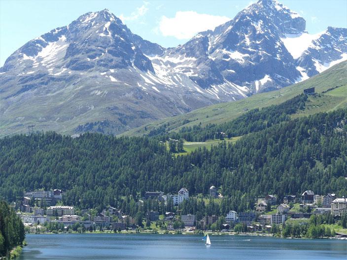 Blick auf Sankt Moritz