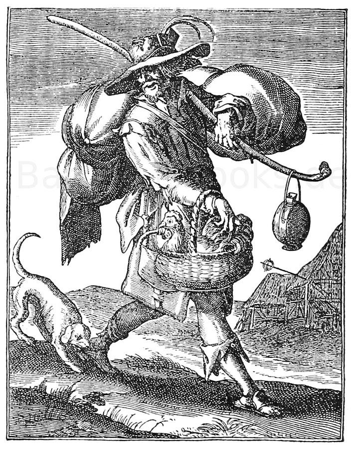 Landstreicher um 1600. Kupferstich von H.  Ullrich.