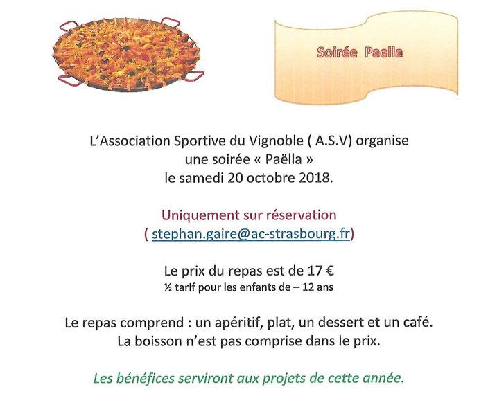Soiree Paella De L Asv Wangen En Alsace