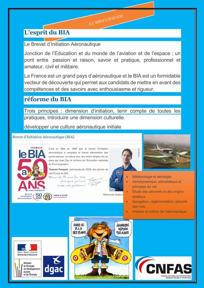 Aéroclub de Sens - Affiche BIA - Avril 2019