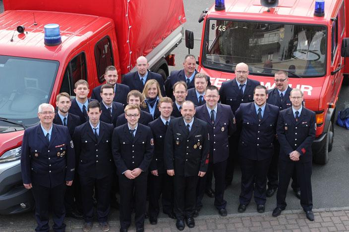 Die aktiven Kameraden der Freiwilligen Feuerwehr Kestert 2016. (3 Kameraden fehlten)