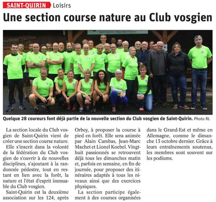 republicain lorrain course à pied nature club vosgien saint-quirin