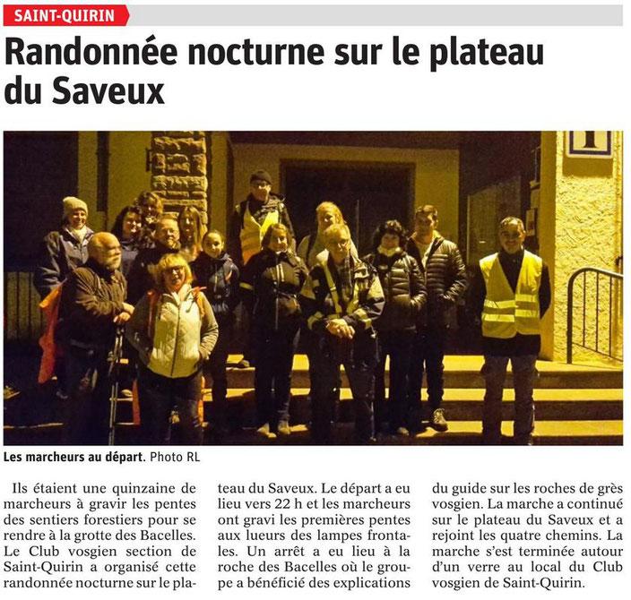club vosgien de Saint-Quirin randonnée balades