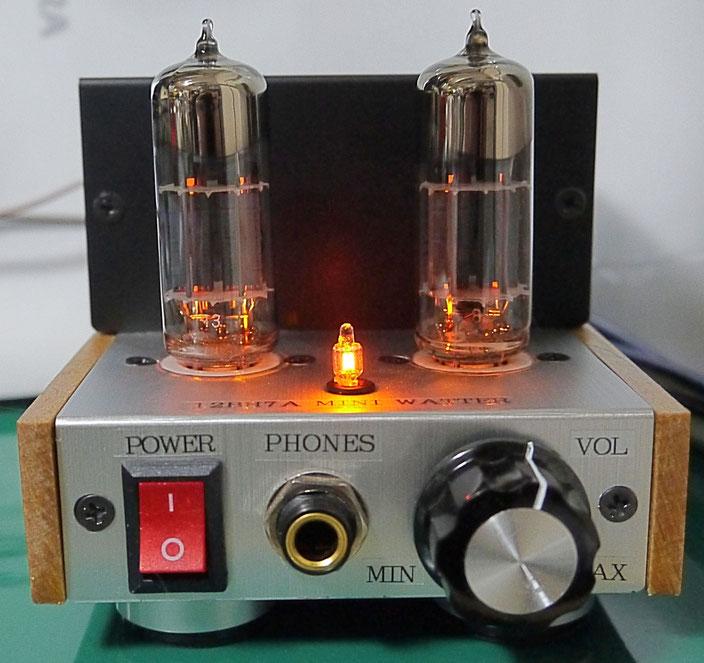 DIY-Audio DC-DC Mini Watter Tube Amp 12BH7A DC-DC ミニワッター小型真空管オーディオアンプ自作