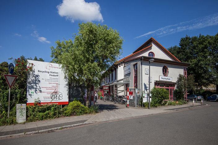 Der Recyclinghof Findorff wurde als erste Recyclingstation in Bremen vor 23 Jahren eingerichtet (©gri-Bremen)