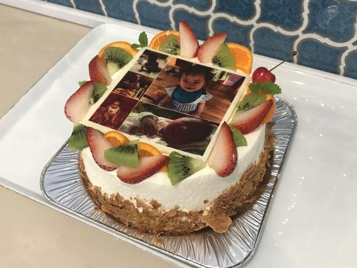 写真ケーキ例 5号サイズ(15cm)