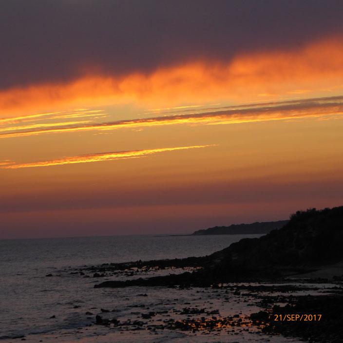 Der Sonnenuntergang in Tarifa