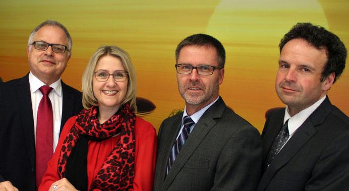 StDin Helga Fischer, StD Eugen Schmidt-Greese, OStD Gottfried Göppel und StD Kersten Henne
