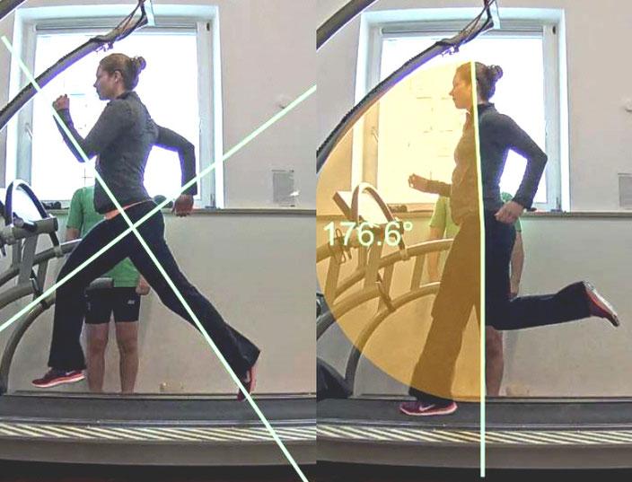eine videogestützte Laufstil- und Lauftechnik Analyse wird oft für Sportler oder Patienten angeboten