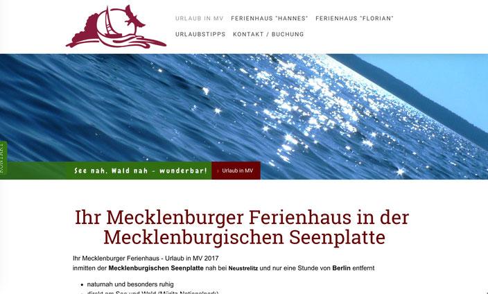 Ferienhaus Ferienwohnung vermieten Webseite Homepage