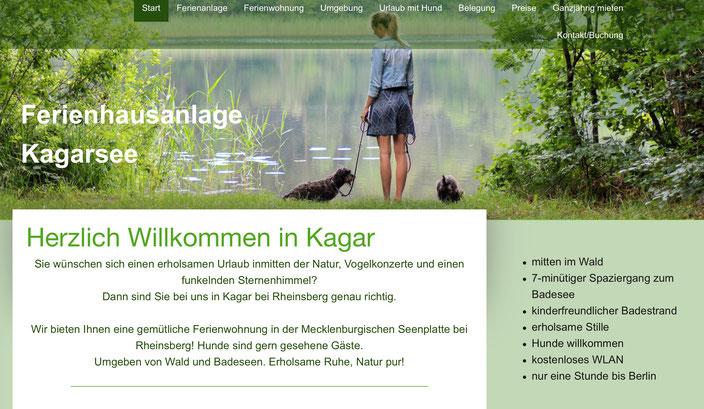 Webseite Ferienwohnung Kagar, Fewo richtig vermieten, erfolgreiche Vermietung Ferienhaus