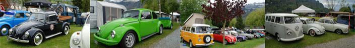 Collage von Fotos vom Käfertreffen.ch 2017