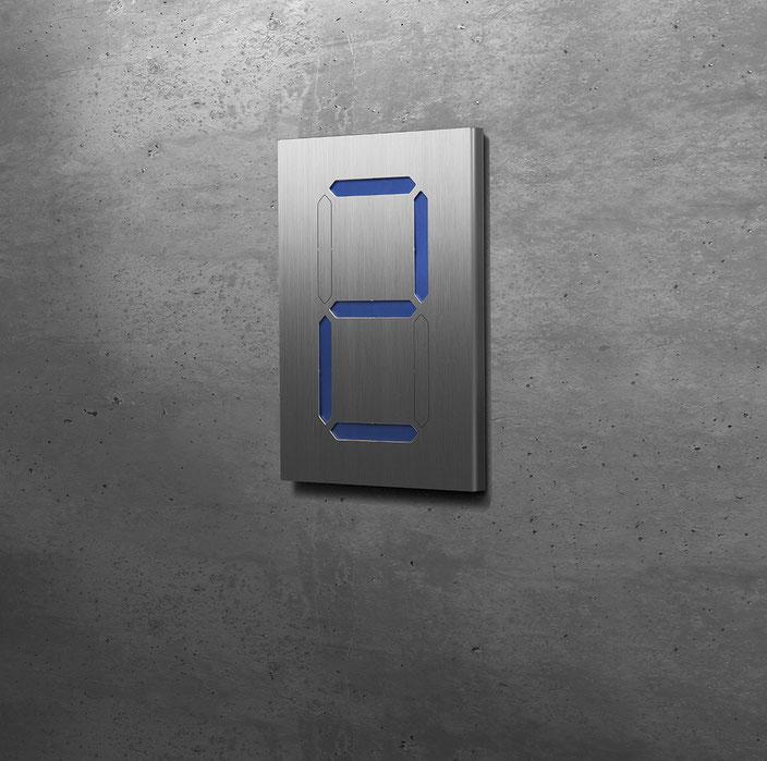 "Segment-Hausnummer ""2"" blau hinterlegt"