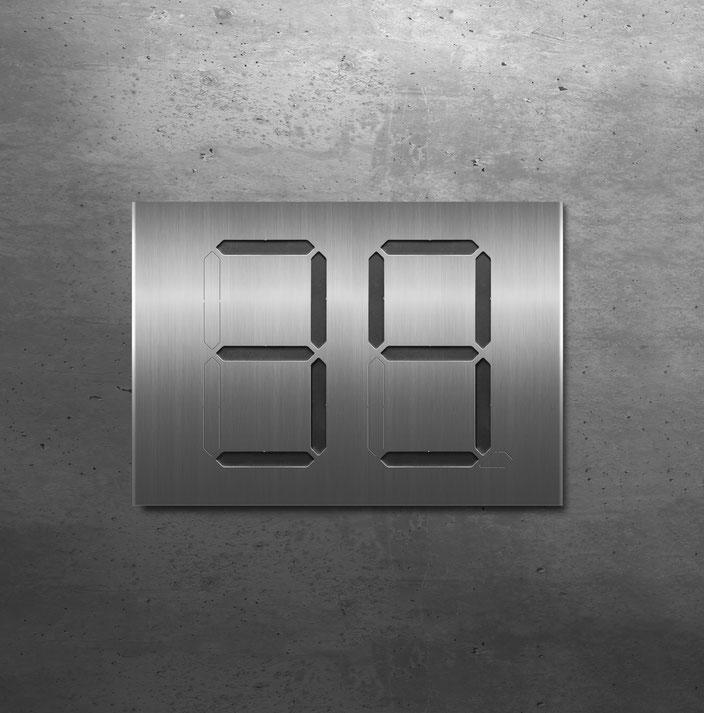 """Segment-Hausnummer """"39"""" schwarz hinterlegt"""