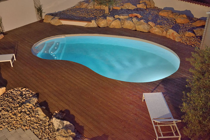 Schwimmbecken Eva, Garten Schwimmbecken, Garten Pool, Garten, Pool, Schwimmbecken Pacio Treppe, Wellness Treppe