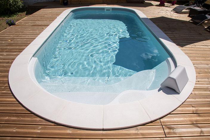 Schwimmbecken Luna, Garten Schwimmbecken, Garten Pool, Garten, Pool, Schwimmbecken, Pacio Treppe, Wellness Treppe