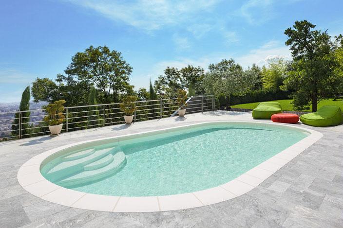 Schwimmbecken Elsa, Garten Schwimmbecken, Garten Pool, Garten, Pool, Schwimmbecken, Enjoy Treppe