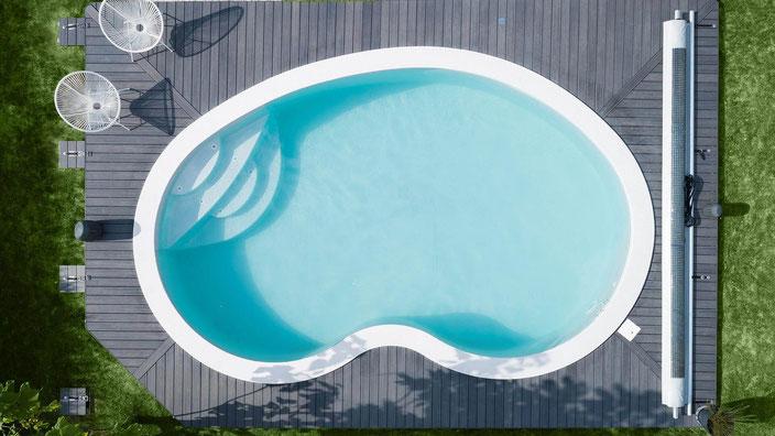 Schwimmbecken Lisa, Pacio Treppe, Wellness Treppe, Pool, Garten, 1