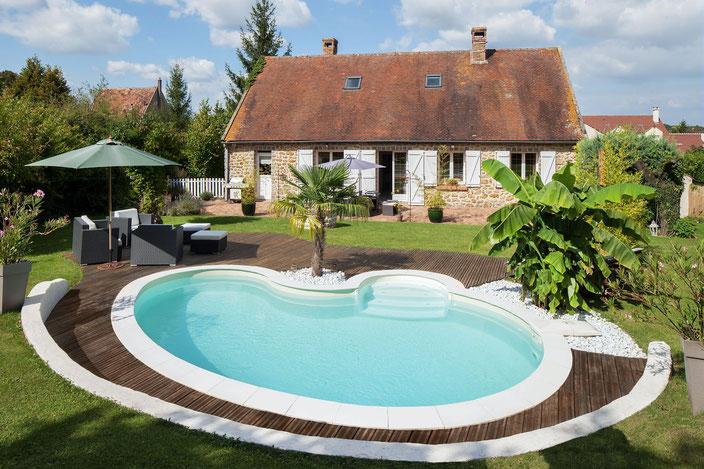 Celine, Garten, Pool, Schwimmbecken