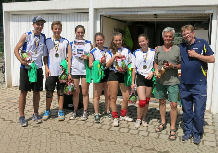 Zum dritten mal Pokalsieger  Otto Schott Gymnasium 1