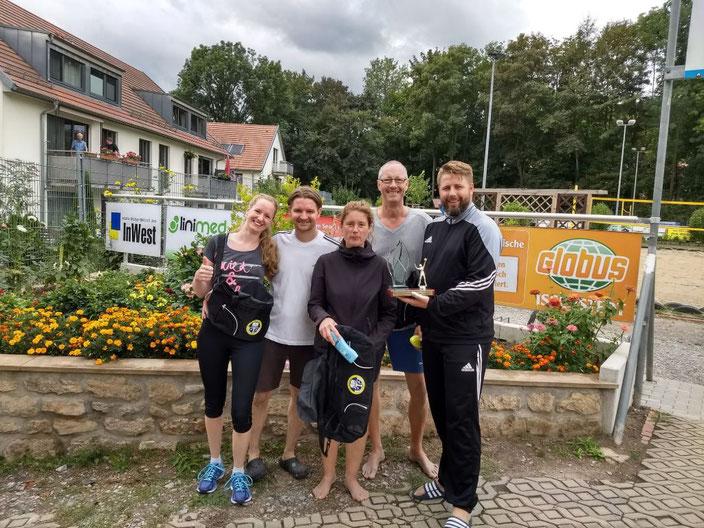 Das Siegerteam  Duschdas