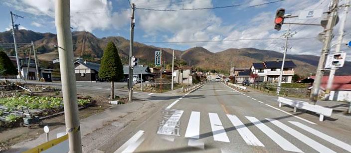 「西」交差点(Googleマップ ストリートビューより)