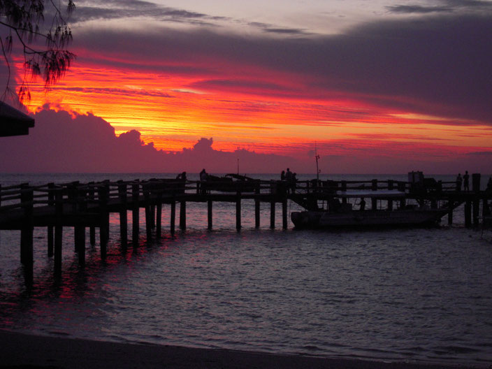 ヘロン島の夕焼け