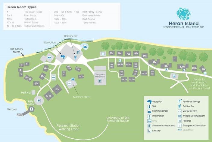 リゾート施設のマップ
