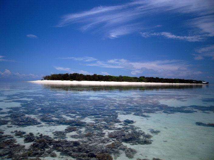 ラグーンから見たヘロン島
