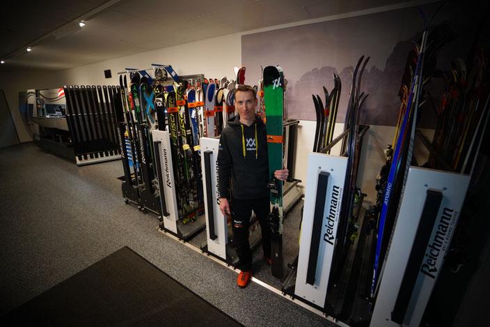 Werkstattbereich Skiaufbewahrung