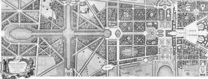 plan du domaine en 1746