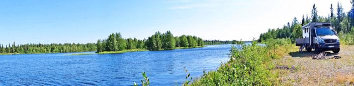 Herrlicher Platz an einem der vielen Flüsse in Finnland
