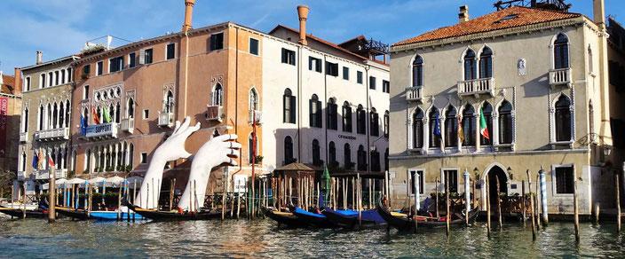 Kunst am Canale Grande in Venedig