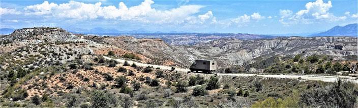 Unterwegs in den Badlands bei Gorafe (Nähe Granada)