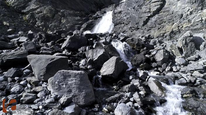 Gemmipass, Wildstrubel, Gletscherfluss, Schlemmebene, Hochgebirge, Felsen, Naturkraft