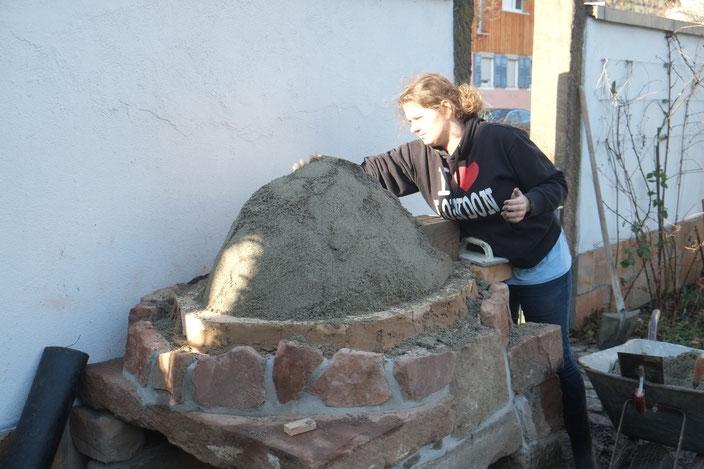 Lehmbackofen, Sandform