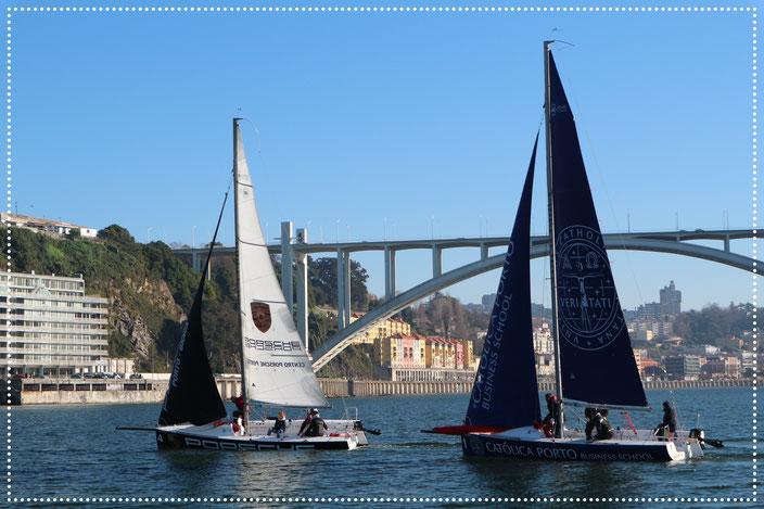 Segelboote auf dem Rio Douro