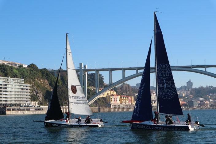 Segelschiffe auf dem Rio Douro