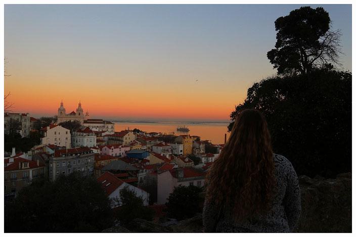 Lissabon Reiseführer - Reisetipps Sonnenuntergang