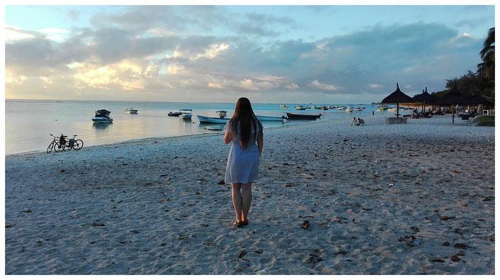 Trou aux biches Mauritius Sonnenuntergang Reiseziel Maurititius wunderschön Strand