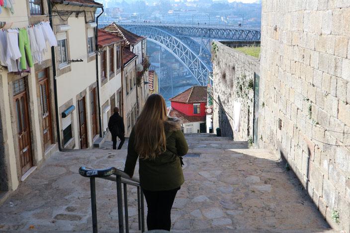 Blick auf die Brücke Louis I.