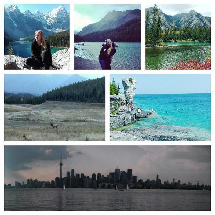 Lake Morraine, Lake Minnewanka, Banff, Tobermory, Toronto