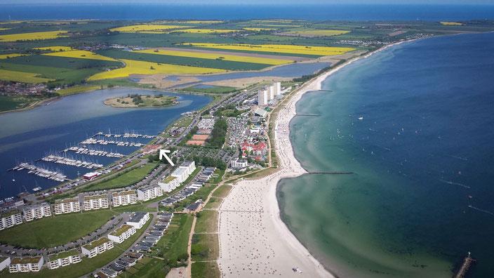 Luftaufnahme Südstrand/Burgtiefe | © Fehmarn Air