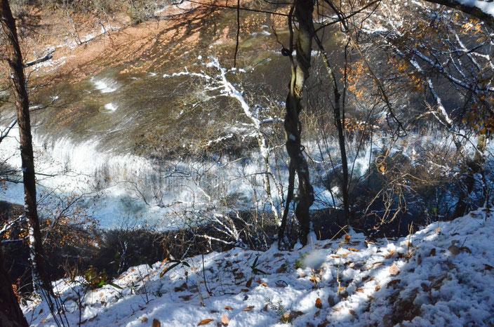 六角堂からの吹割の滝